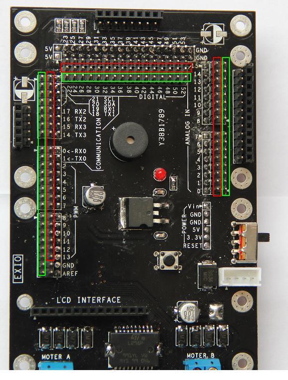 只有外接锂电池后,电源指示灯亮,pwm口和电机驱动才有供电.